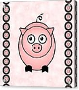 Piggy - Animals - Art For Kids Acrylic Print