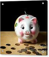 Piggy Bank Acrylic Print by Sinisa Botas
