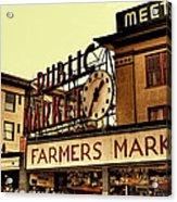 Pike Place Market - Seattle Washington Acrylic Print