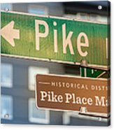 Pike Place Market Sign Acrylic Print