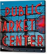 Pike Place Public Market Seattle Acrylic Print