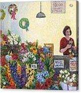 Pikes' Flower Market Acrylic Print