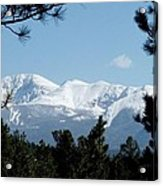 Pikes Peak After A Snowstorm Acrylic Print
