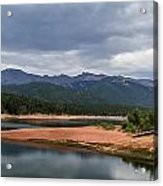 Pikes Peak From Crystal Creek Reservoir  Acrylic Print