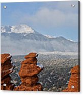 Pikes Peak In The Clouds Acrylic Print