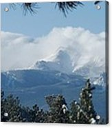 Pikes Peak Under The Clouds Acrylic Print
