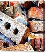 Pile Of Bricks Acrylic Print