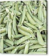 Pile Of Sugar Peas Background Acrylic Print