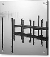 Pilings In The Fog Acrylic Print