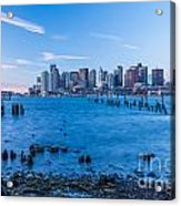 Pilings On Boston Harbor Acrylic Print