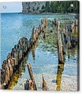 Pilings On Lake Michigan Acrylic Print