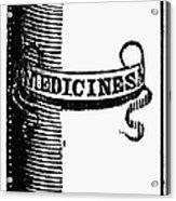 Pill Bottle, 19th Century Acrylic Print