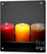 Pillar Candles Acrylic Print