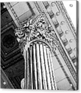 Pillar Of Finance  Acrylic Print by Cathie Tyler