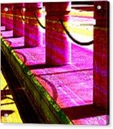 Pillars And Chains - Color Rays Acrylic Print