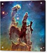 Pillars Of Creation In High Definition - Eagle Nebula Acrylic Print