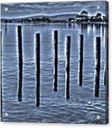 pillars on the Bay Acrylic Print