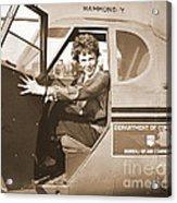 Pilot Amelia Earhart 1936 Acrylic Print