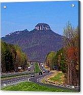 Pilot Mountain From Overlook Acrylic Print