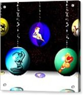 Pin Up Ornaments Acrylic Print