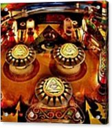 Pinball All Seeing Eye Acrylic Print by Benjamin Yeager