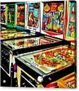Pinball Alley Acrylic Print by Benjamin Yeager