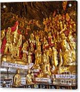 Pindaya Cave With More Than 8000 Buddha Statues Myanmar Acrylic Print