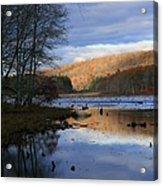 Pine Acres Lake Reflections  Acrylic Print