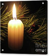 Pine Bough And Candle Acrylic Print
