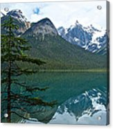 Pine Over Emerald Lake Reflection In Yoho National Park-british Columbia-canada Acrylic Print
