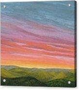 Pine Ridge Spring Sunset Acrylic Print