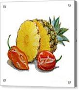 Pineapple And Habanero Peppers  Acrylic Print
