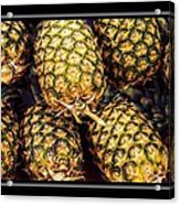 Pineapple Color Acrylic Print