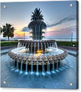 Pineapple Fountain At Waterfront Park Acrylic Print
