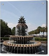 Pineapple Fountain Charleston Acrylic Print