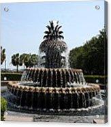 Pineapple Fountain Charleston River Park Acrylic Print