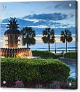Pineapple Fountain Charleston South Carolina Sc Acrylic Print