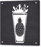 Pineapple Juice Drawn In Chalk In A Acrylic Print