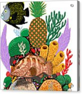 Pineapple Reef Acrylic Print
