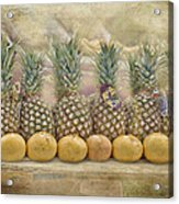 Pineapples And Grapefruit Acrylic Print
