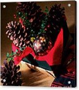 Pinecones Christmasbox Painted Acrylic Print