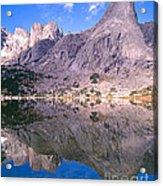 Pingora Peak On Lonesome Lake Acrylic Print