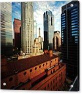 Pinhole Los Angeles Cityscape Acrylic Print