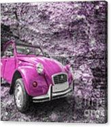 Pink 2cv  Acrylic Print