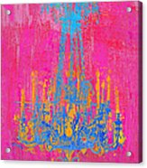 Pink And Blue Chandelier Acrylic Print