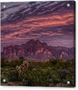 Pink And Purple Desert Skies  Acrylic Print