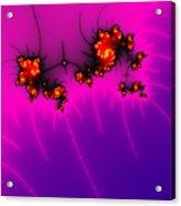 Pink And Purple Digital Fractal Artwork Acrylic Print