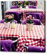 Pink And Purple Dining Acrylic Print