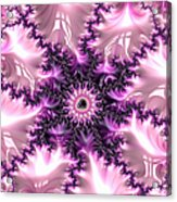 Pink And Purple Soft And Creamy Fractal Art Acrylic Print