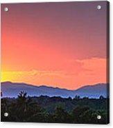 Pink Arc Above The Blue Ridge Acrylic Print